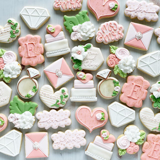 Monogram E Wedding Cookies
