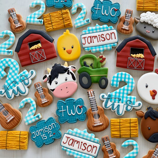 Barnyard Birthday Cookies   Simply Renee Sweets