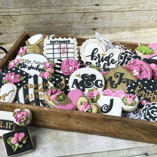 Kate Spade Bridal Shower Cookies | Simply Renee Sweets