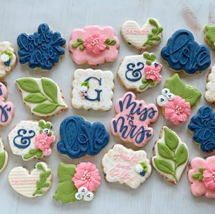 Monogram G Bridal Cookies