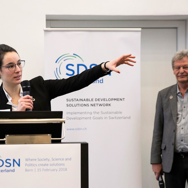 Océane Dayer and Urs Wiesmann, SDSN Switzerland Co-Chairs