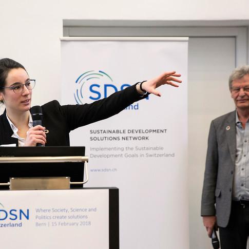 Océane Dayer and Urs Wiesmann, SDSN Switzerland Co-Chairs