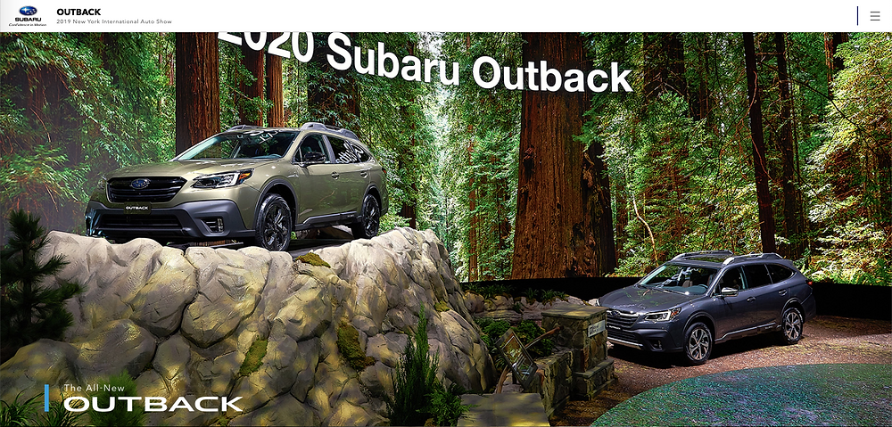 2019International New York Auto Show  / SUBARU Out Back