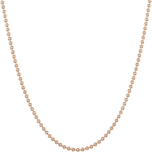 Rose Gold Plated Ball Chain, Handcrafted Jewellery