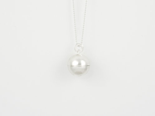 """Dream Pendant """"Moon""""  Brushed Silver"""