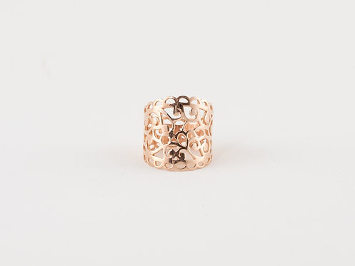 Filigree Ring, rose gold plated