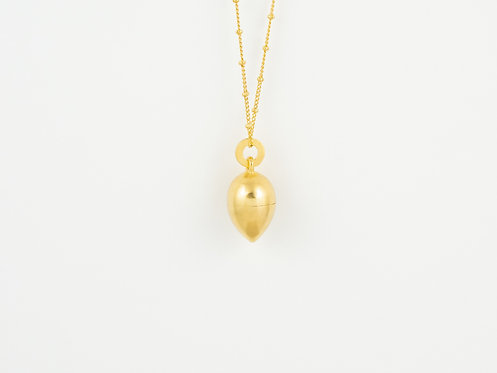 """Dream Pendant """"Drop"""" 18k gold plated, brushed"""