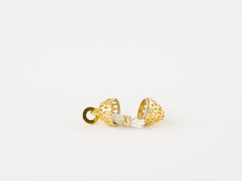 "Unique Handmade Jewellery, Dream Pendant ""  Mandala"" Gold Plated"