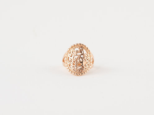 Handmade Mandala Ring Rose Gold