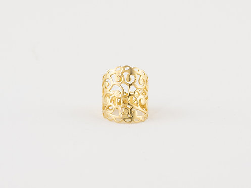 Online Handcrafted Jewellery , Gold Plated Filigree Ring