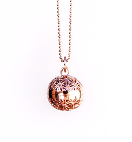 Silver Harmony Ball Pendant Rose Gold Plated, JIPSI Collection