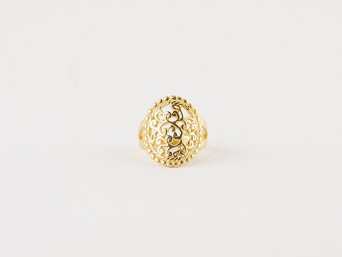 Handmade Jewellery Online, Mandala Ring Gold