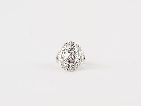 Beautiful Handmade Rings, Mandala Silver Ring