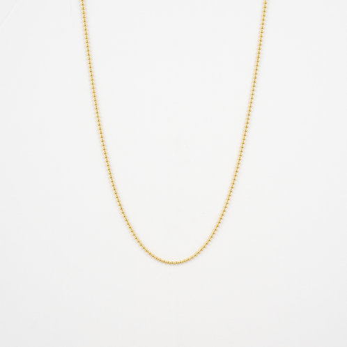 Handmade Silver Ball Chain, 18K Gold Plated Jewellery