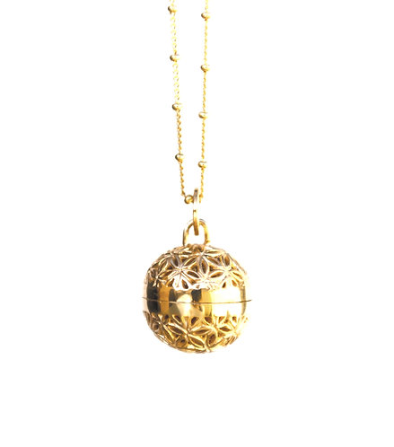 Sterling Silver Harmony Ball Pendant Gold Plated