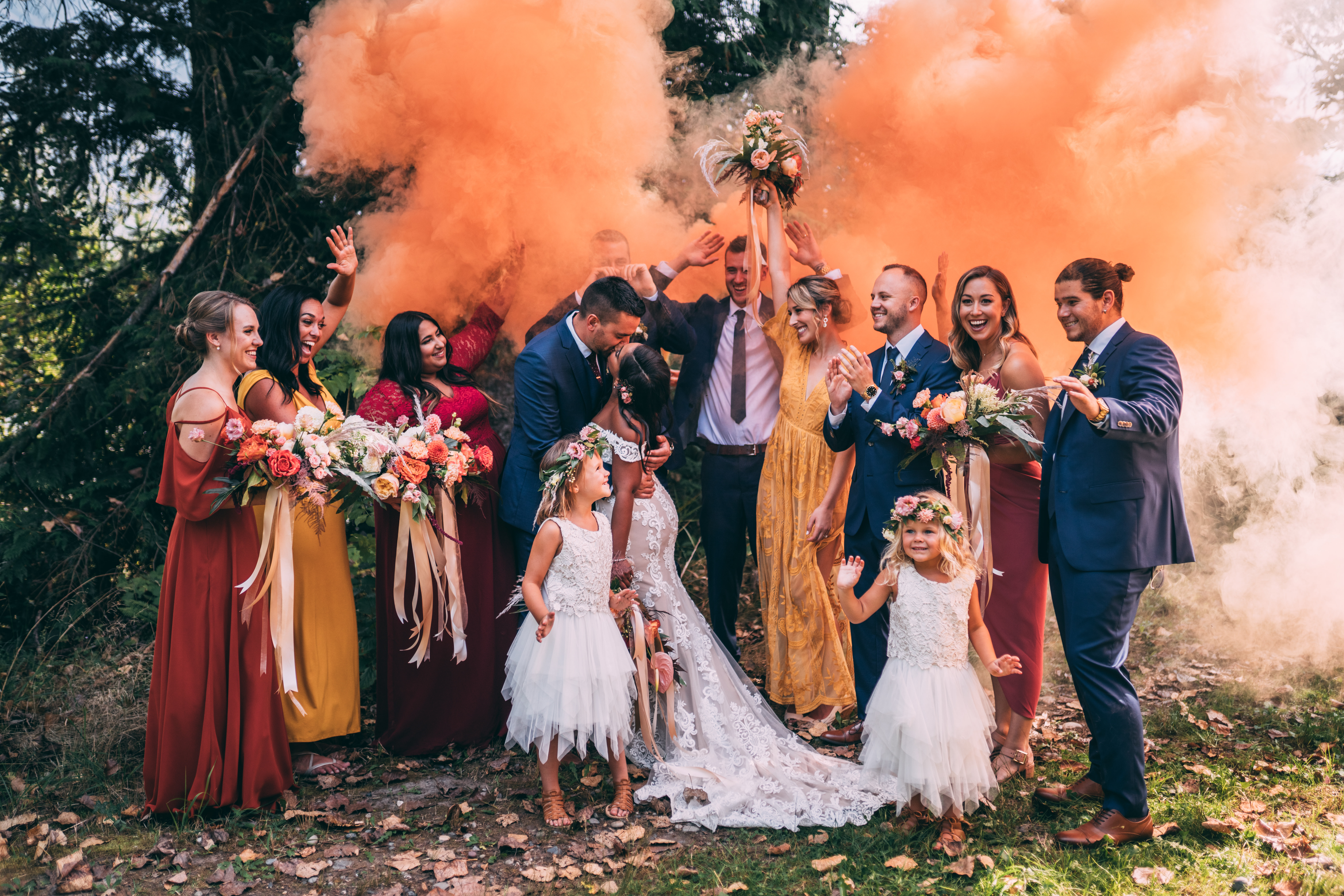 Bridal Party Smoke bomb