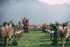 Fraser River Lodge outdoor ceremony