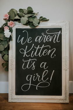 Baby Shower Calligraphy Sign