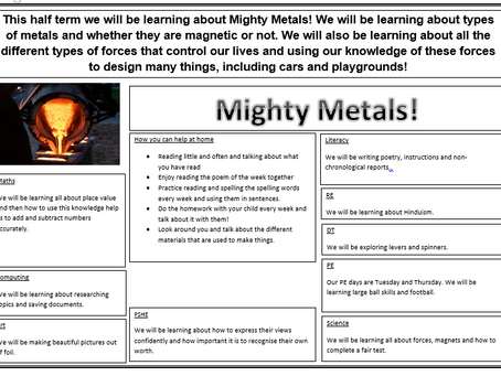 Year 3/4 Mighty Metals!