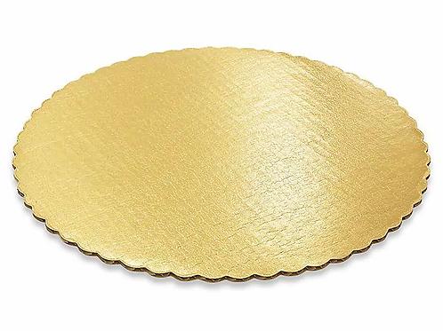 Gold Scalloped Cake Round
