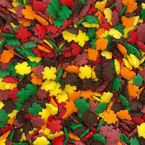 Fall Leaf Shaped Sprinkles