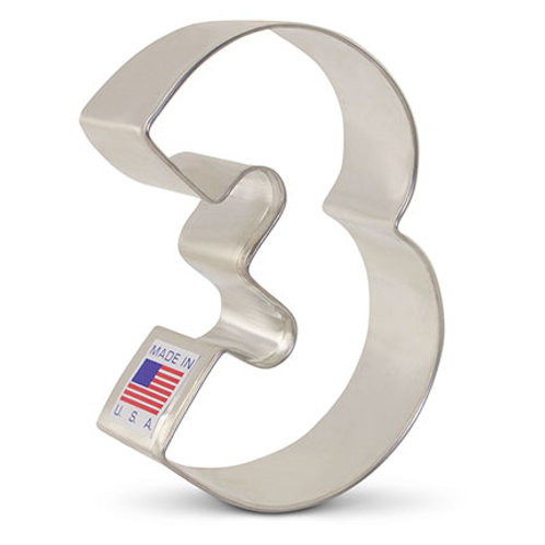 Number 3 Cookie Cutter