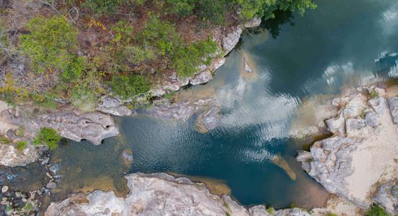 Paisaje de río Sapo, Morazán