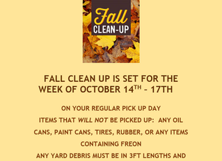 Flatwoods Fall Clean Up 2019