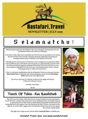 Rastafari.Travel   July 2019   Newsletter