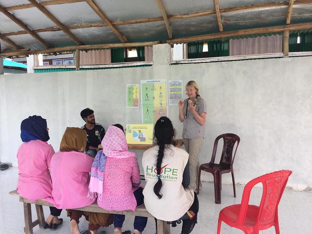 Nurse Midwife teaching in Bangladesh