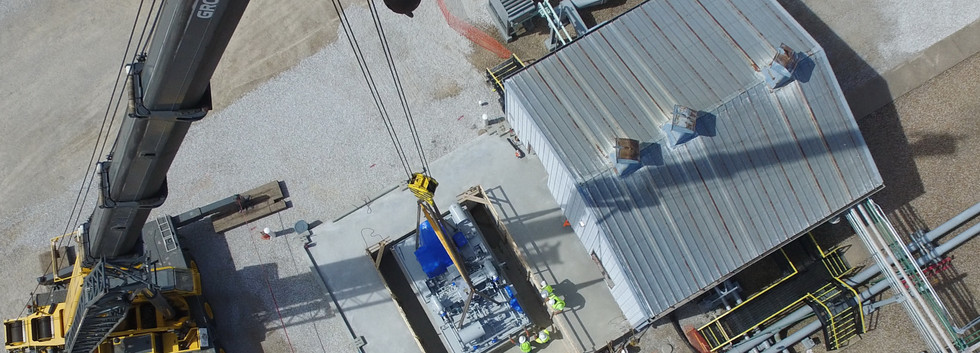 L Keeley Construction Industrial Aerial