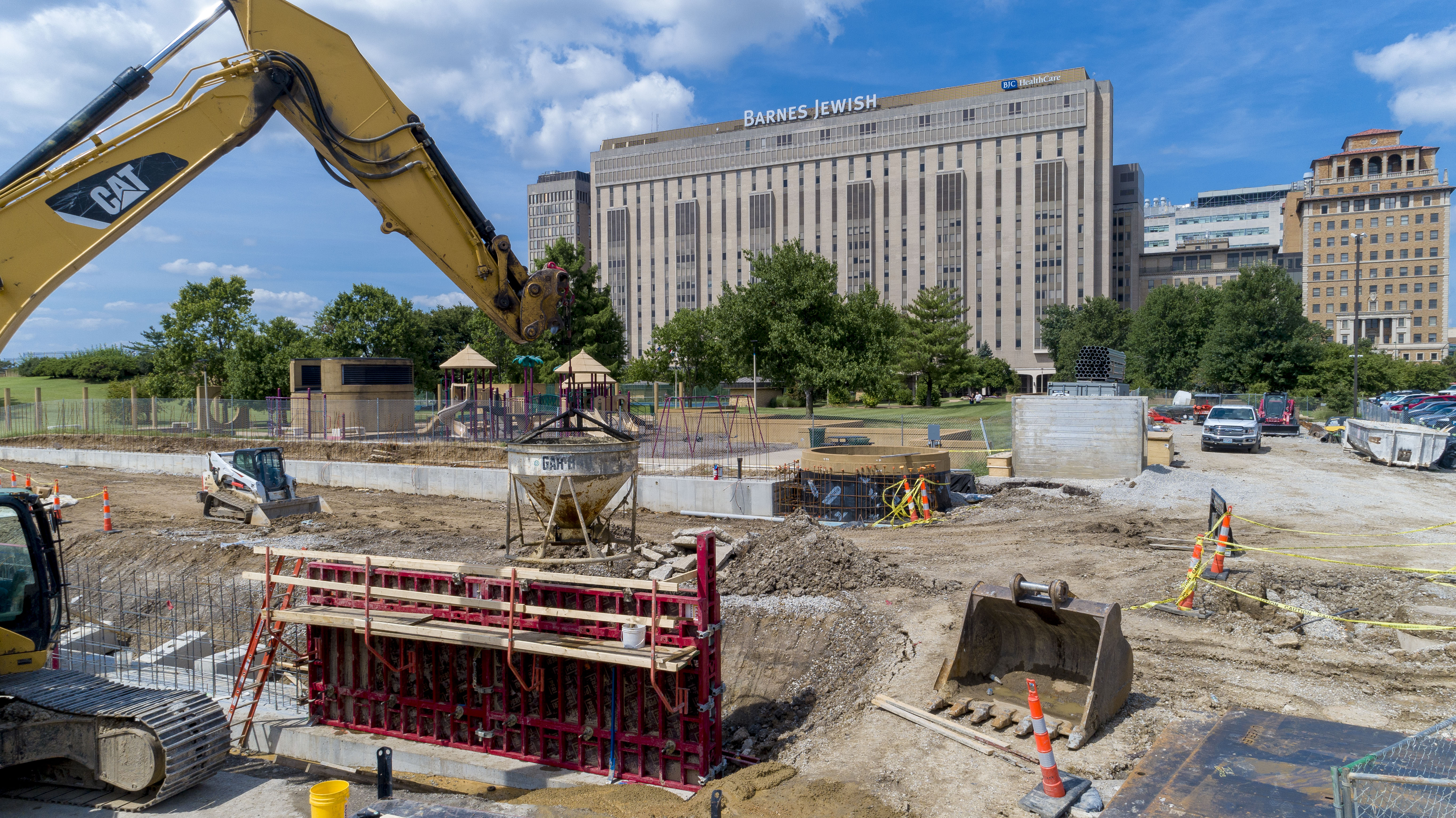 L Keeley Civil Group building the foundation for the BJC Ameren Substation