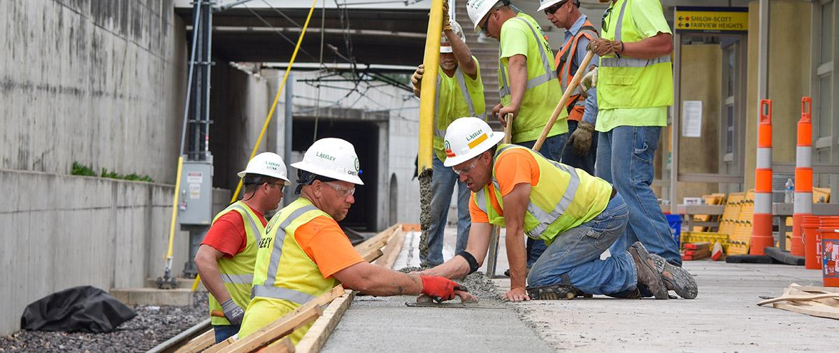 L Keeley Heavy Civil MetroLink Concrete Pour