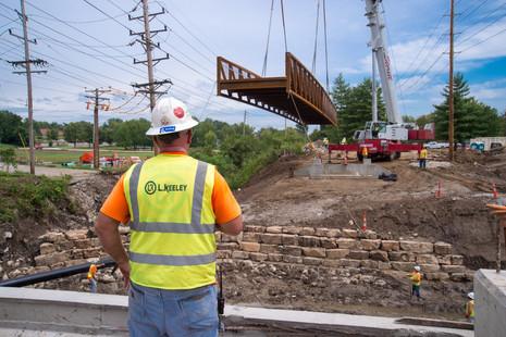 037 G Rivers Greenway Bridge Install_Aug