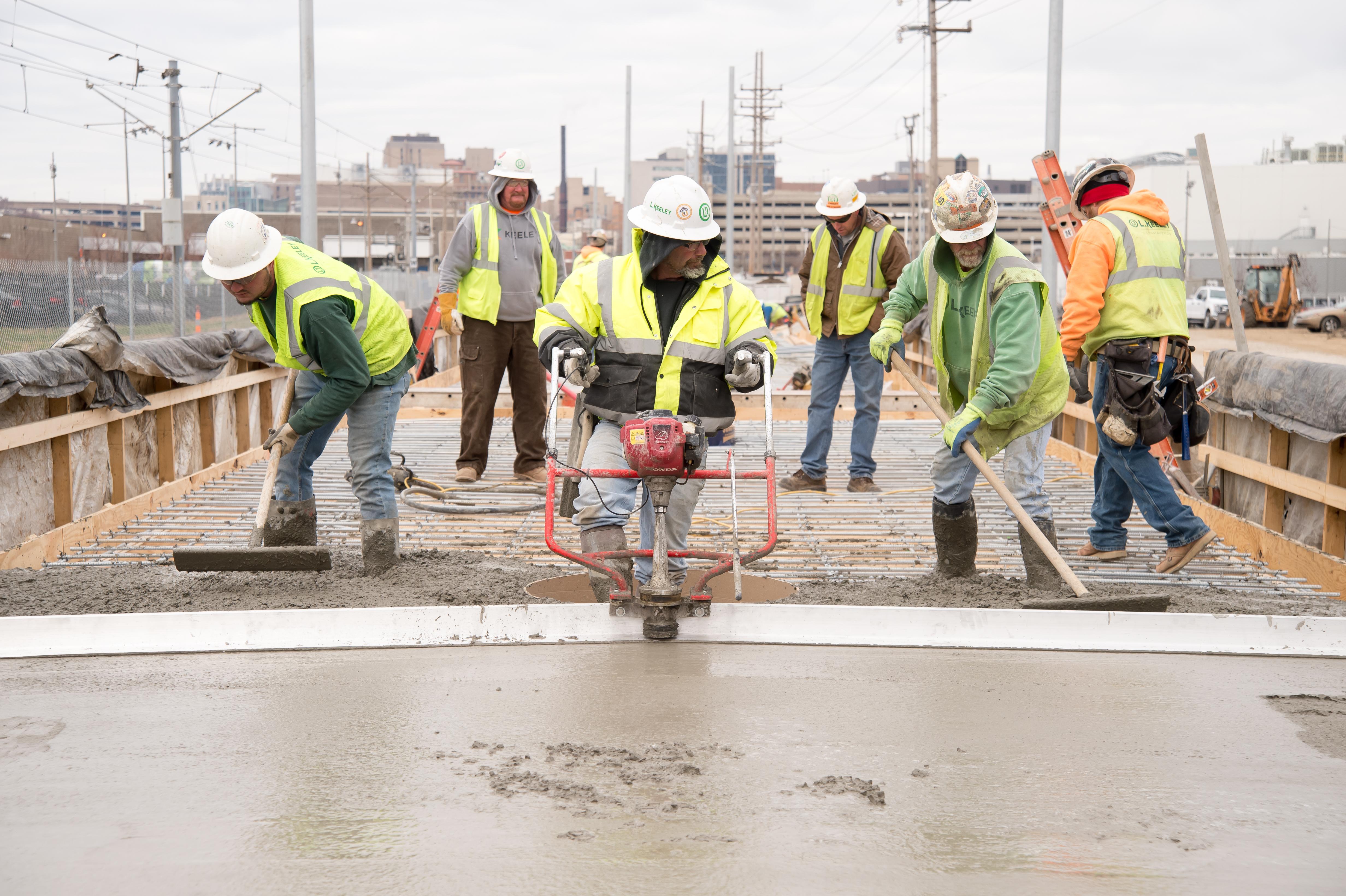L Keeley Heavy Civil Concrete Pour for Metrolink Cortex