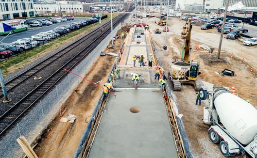 073 Metrolink Cortex Concrete Pour_Keele