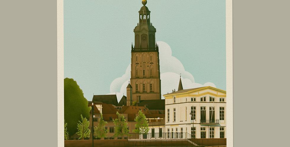 Zutphen Vintage Stadsposter v.a.