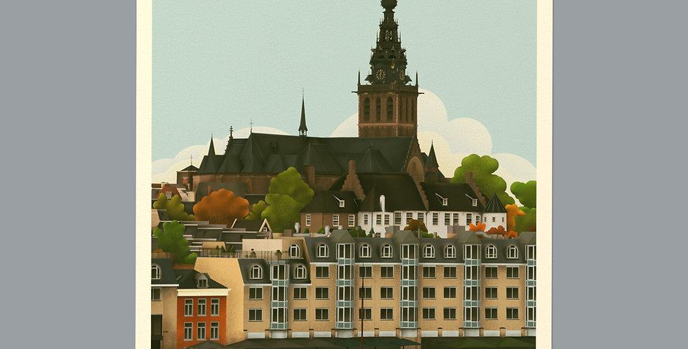 Nijmegen Vintage Stadsposter v.a.