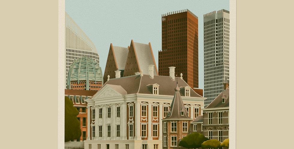 Den Haag Vintage Stadsposter v.a.