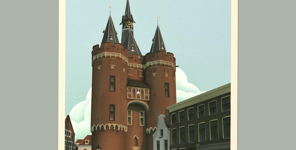 Zwolle Vintage Stadsposter v.a.