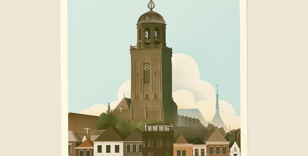 Deventer Vintage Stadsposter v.a.