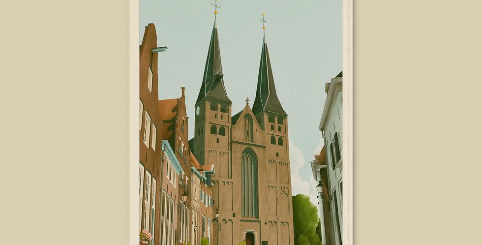 Deventer - De Bergkerk Koelkastmagneet