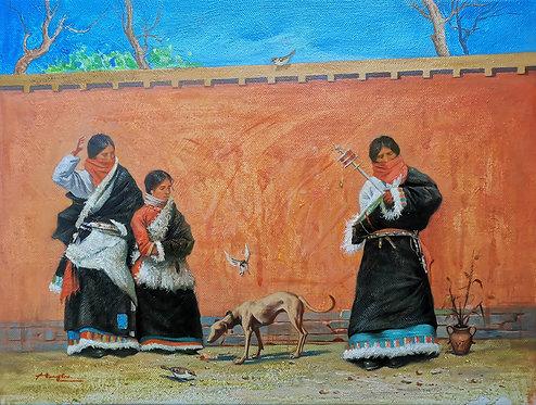 Oil painting - Ethnic minorities in China