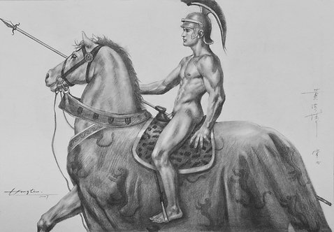 Drawing- General on horse
