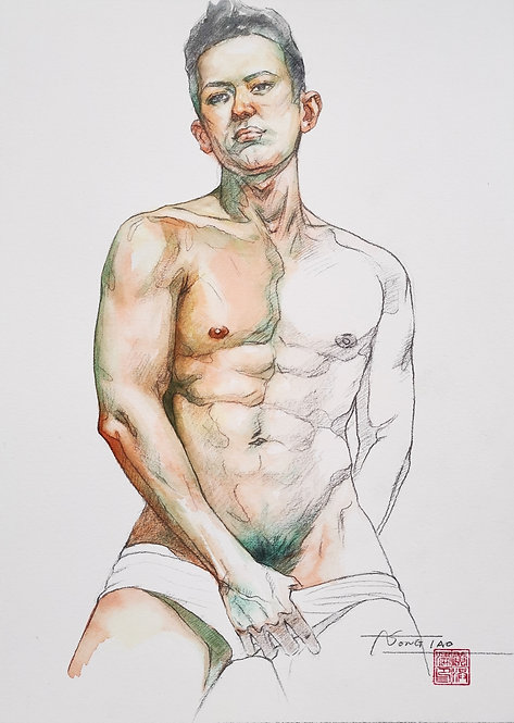 Watercolor- The male models