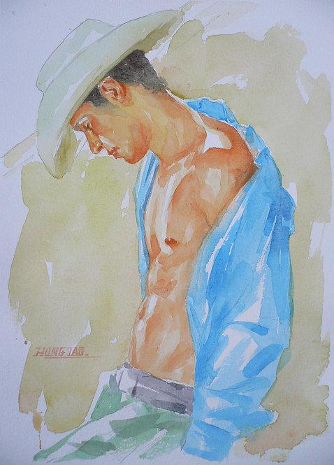Watercolor - Cowboy