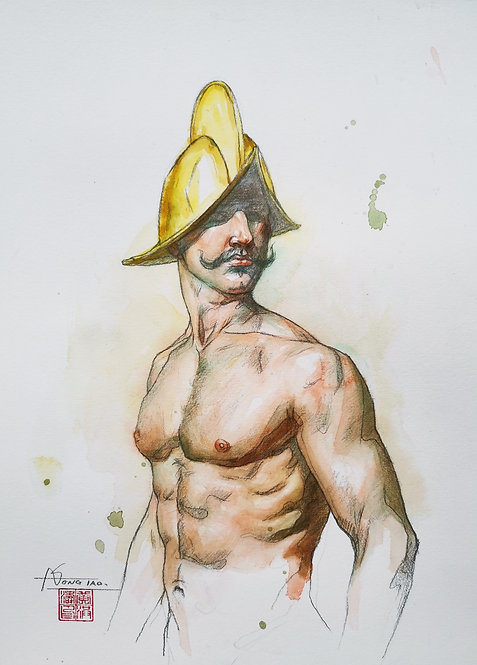 Watercolor-Portrait of Warrior