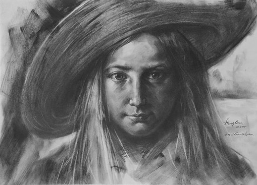 Drawing- Portrait of girl