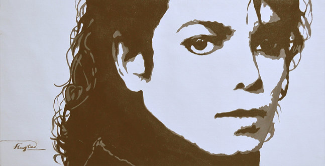 Portrait of Michael Jackson