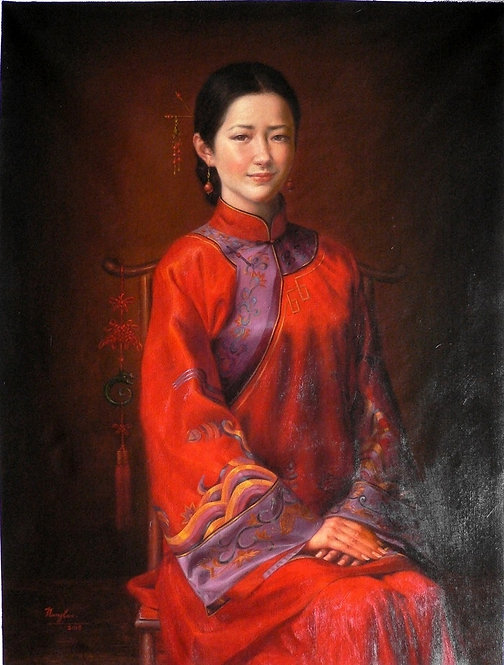Oil painting -Chinese  Bride